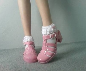 pink, shoes, and pale image