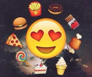 food, emoji, and pizza image