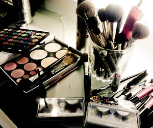 makeup, make up, and Brushes image