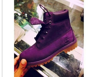 purple and timberlands image