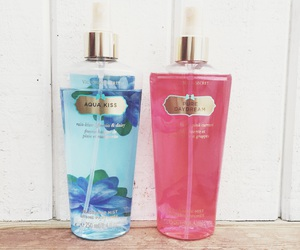 blue, bodymist, and pink image