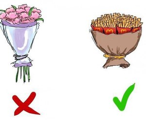 flowers, food, and fries image