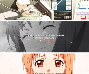 anime, sword art online, and quotes image