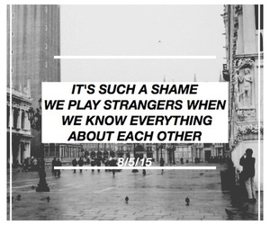 quote, black and white, and broken image