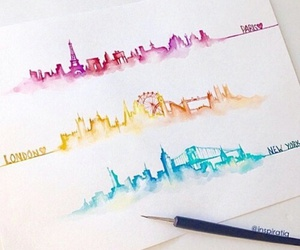 art, london, and paris image