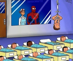 funny and spiderman image