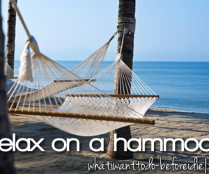 relax, before i die, and hammock image