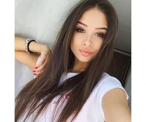 beauty, alina akilova, and brunette image