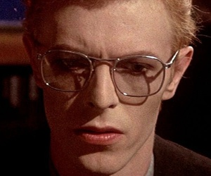 david bowie, glasses, and handsome image
