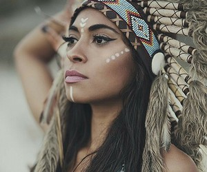 beauty, feathers, and native american image
