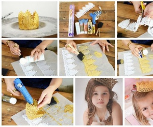 diy, pretty, and gold image