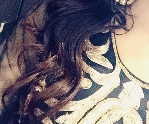 black and gold, curls, and girls image