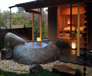 japan and outdoor bath image
