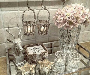 decor, glam, and flowers image