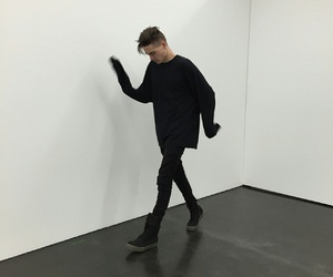 boy, pale, and black image