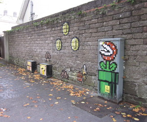 mario, places, and street art image