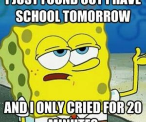 yellow blue, spongebob squarepants, and time school image