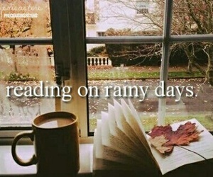 reading, autumn, and rainy days image