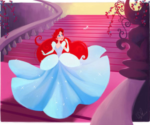 disney, ariel, and cinderella image
