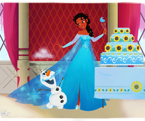 disney, frozen, and tiana image