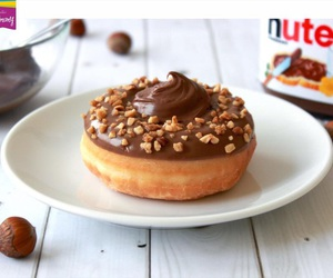 food, nutella, and donuts image