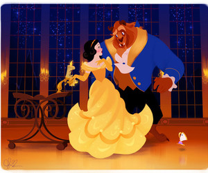 disney, snow white, and beauty and the beast image
