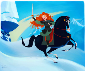disney, mulan, and merida image