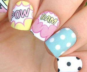 nail art, nails, and pop art image