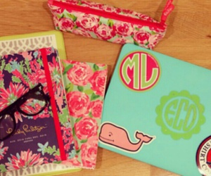 mac book, lilly pulitzer, and preppy image