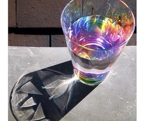 rainbow, water, and glass image