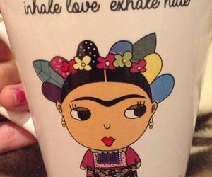 colours, Frida Khalo, and mug image
