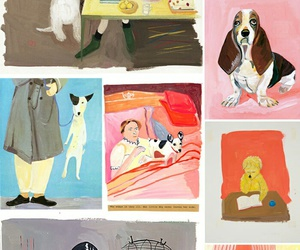 dogs and illustration image