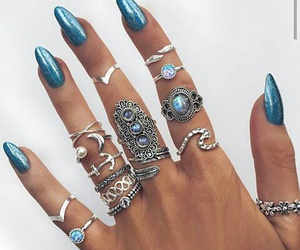 acessories, blue, and nails image