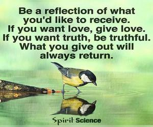 reflection, want love, and give love image