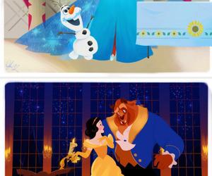 disney, olaf, and snow white image