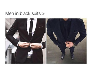 suit, black, and guys image