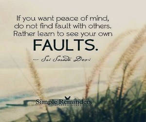 peace of mind, faults, and learn to see image