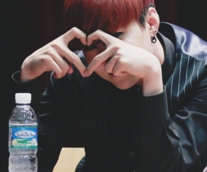 heart, red hair, and jiho image