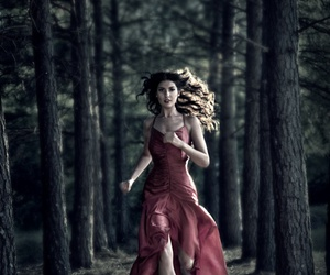 forest, girl, and run image