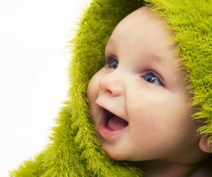 baby, cute, and green image