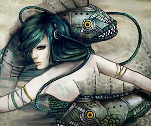 pisces, art, and fish image