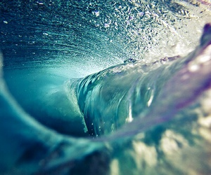 beach, vague, and water image