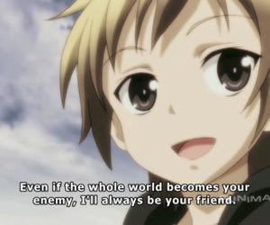 anime, haganai, and friendship image