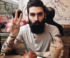 beard, boy, and hipster image