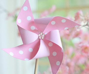 pink, cute, and pinwheel image