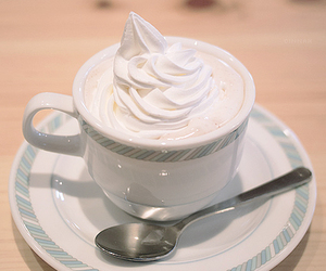 drink, cream, and food image