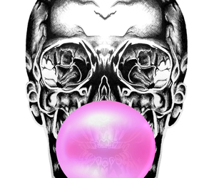bubble gum and skeleton image