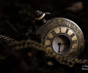 clock, gold, and gothic image