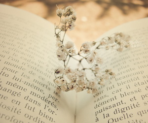 book, flowers, and letters image