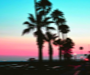 sunset, blue, and blurry image